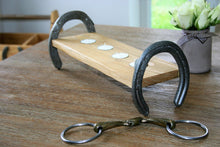 Load image into Gallery viewer, Cheltenham Horseshoe Wooden Tealight Candle Holder Display Stand