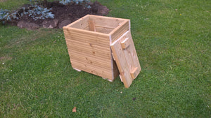Large Wooden Patio planter storage chest with lid or garden set