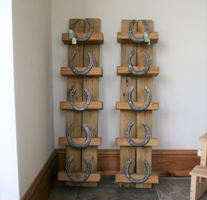 Burghley Horseshoe Wooden Wine Bottle Display Holder Stand