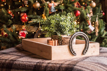 Load image into Gallery viewer, horseshoe handle serving tray christmas gift