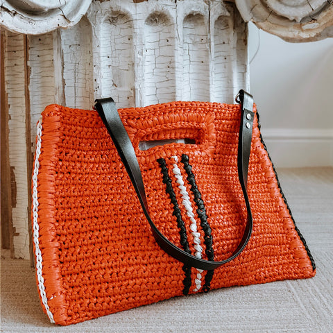 Large Hobo Bag in Orange