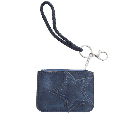 Single Star Coin Purse - Blue
