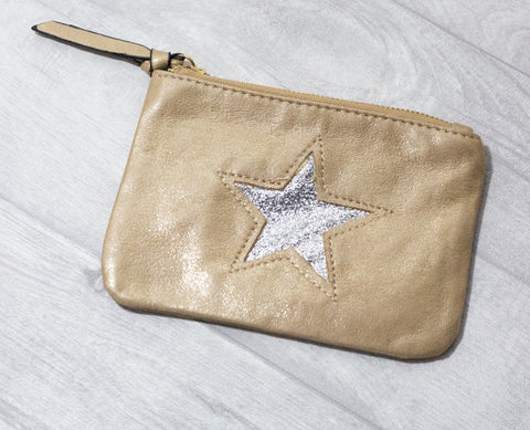 Large Star Coin Purse - Camel
