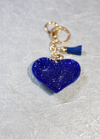 Heart Keychain - Blue