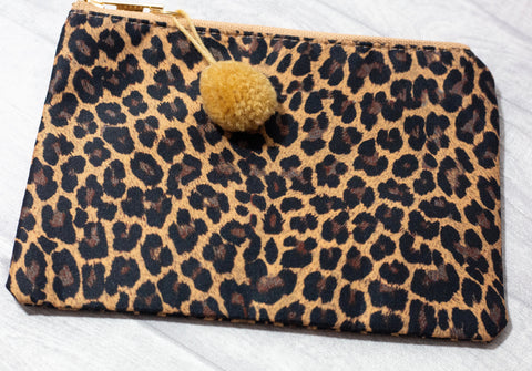 Make-Up Bag / Clutch - Leopard