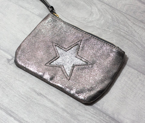 Large Star Coin Purse - Grey