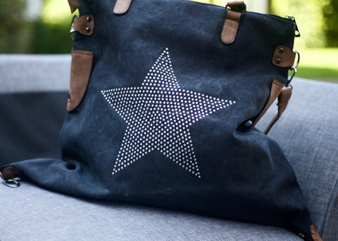 SECOND Large Stud Star Bag - Vintage Black
