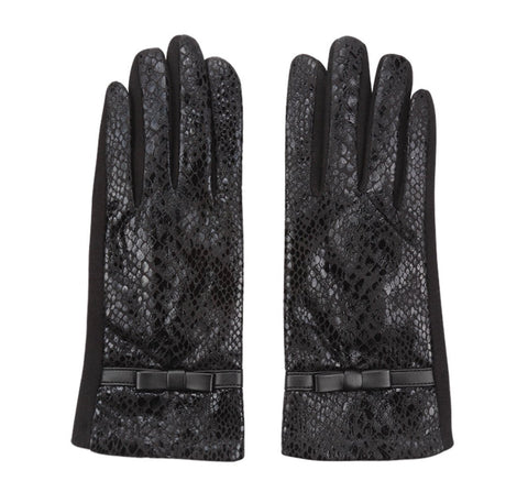 Snakeprint Gloves - Black