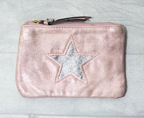 Large Star Coin Purse - Pink