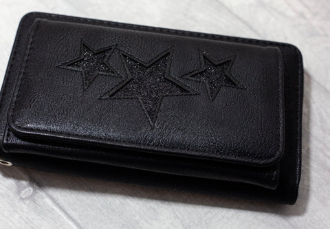 """Naini"" Glitz Star Wallet - Black"
