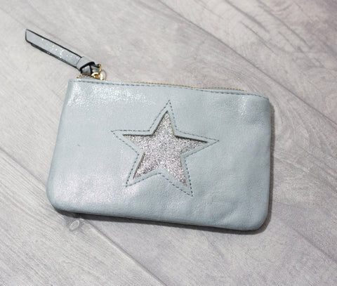 Large Star Coin Purse - Soft Blue