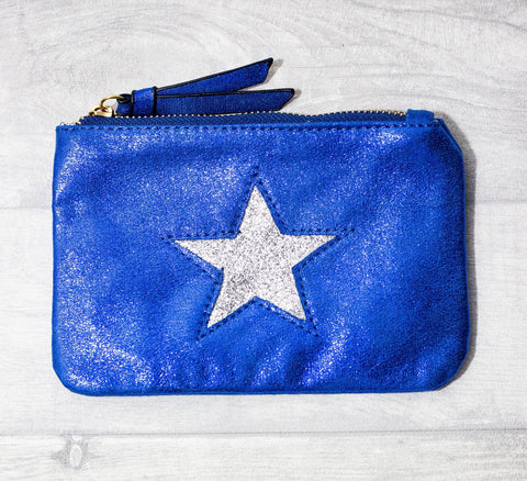 Large Star Coin Purse - Blue