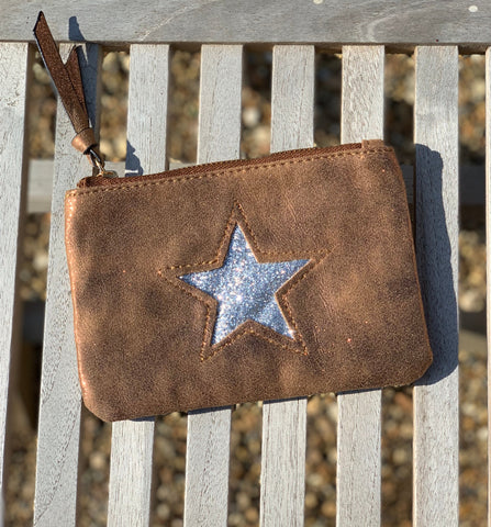 Large Star Coin Purse - Tan