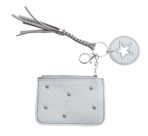 Scatter Star Coin Purse - Silver
