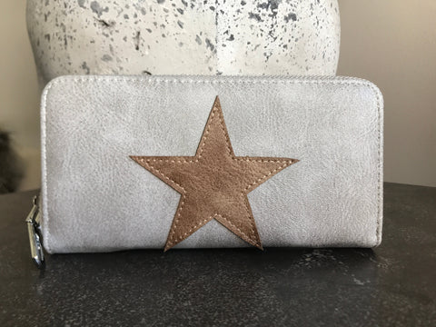 Star Wallet - Pale Grey