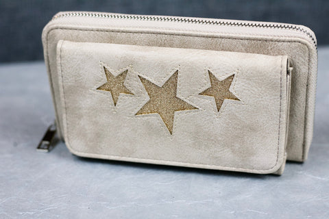 """Naini"" Glitz Star Wallet - Cream"