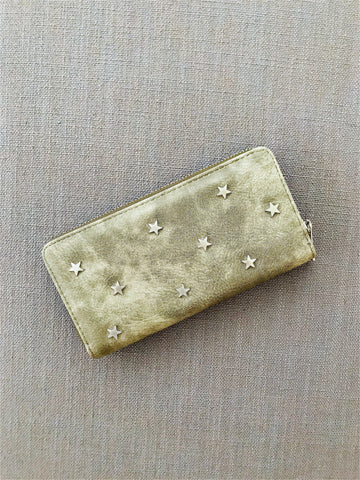 """Sarah"" Scatter Star Wallet - army green"