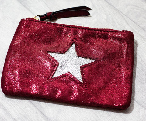 Large Star Coin Purse - Red