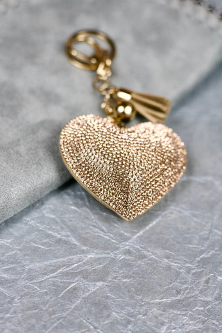 Heart Keychain - Gold