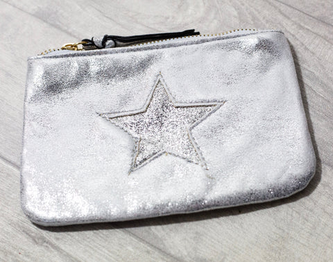 Large Star Coin Purse - Silver
