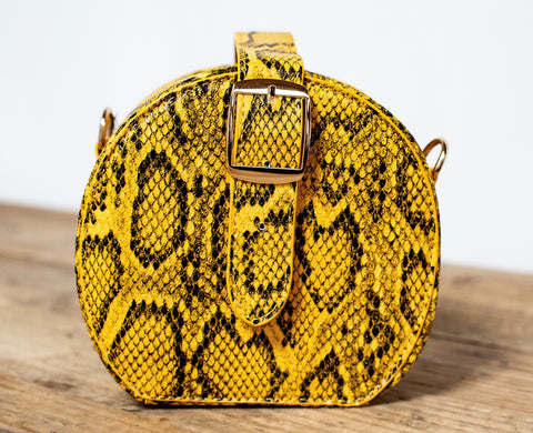Snakeprint Two Way Bag - Amber