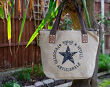 """Vintage"" Medium Canvas Bag - Khaki"