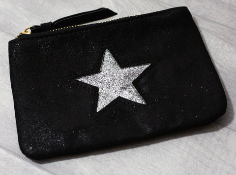 Large Star Coin Purse - Black