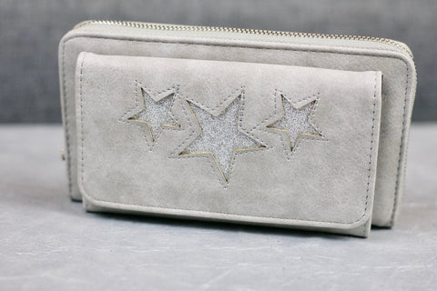 """Naini"" Glitz Star Wallet - Dove Grey"