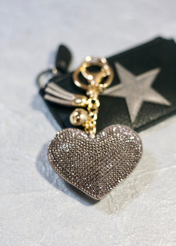 Heart Keychain - Grey
