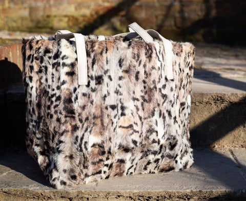 Faux Fur Leopard Print Bag