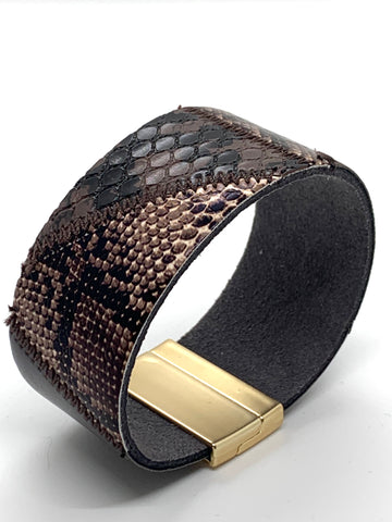 Mosaic Wrap Bracelet - Brown