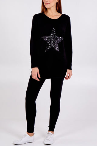 Sequin Star Batwing Lounge Set