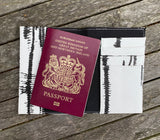 Marble Effect Passport Holder - White