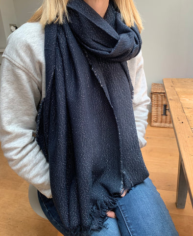 Glimmer Scarf - Midnight Blue