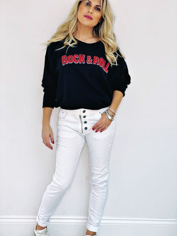 ROCK & ROLL Sweatshirt - Black