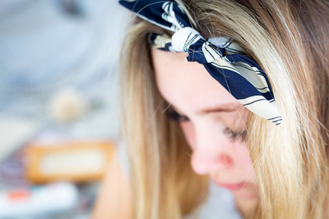 Hawaiian Knot Headband - Black