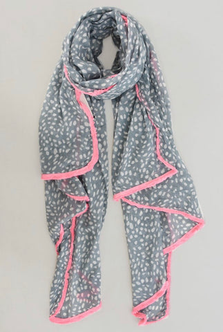 Poppy Scarf - Grey & Pink