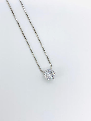 Glitter Solitaire Necklace