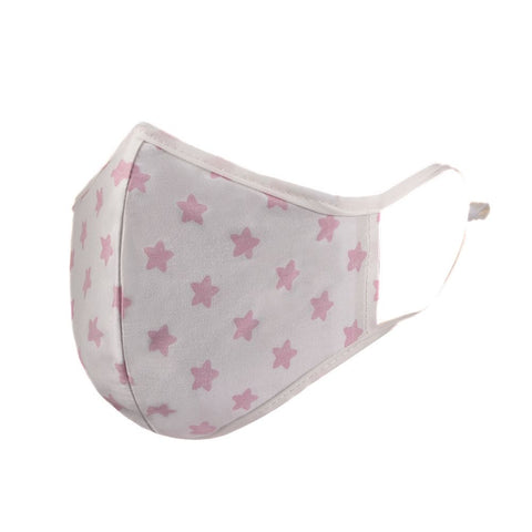 Pink Star Cotton Face Mask