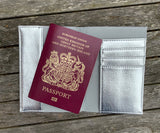Lashes Passport Holder - Silver