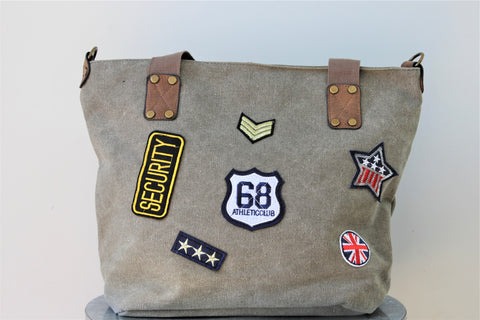 Army Green Patch Bag