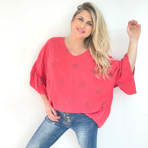 Kelley Star Top - Coral