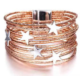 Star Wrap Bracelet - Rose Gold