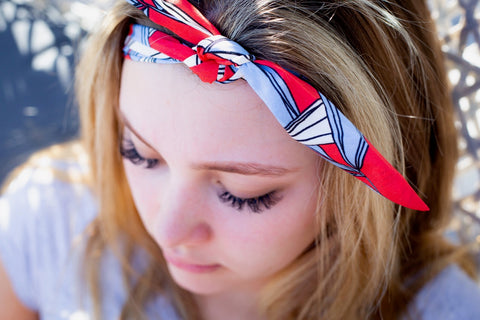 Hawaiian Knot Headband - Red