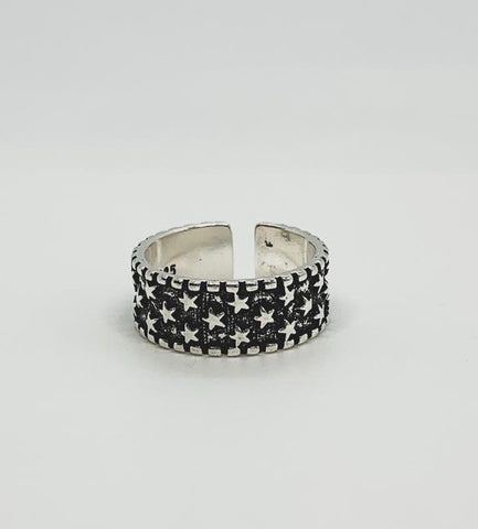 Chunky Black Star Ring
