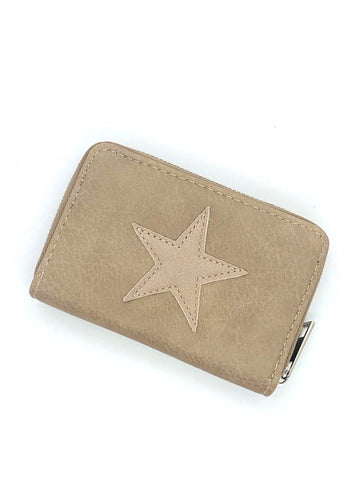 Small Star Wallet - Beige