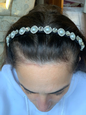 Diamanté and Pearl Headband