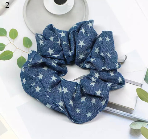 Star Scrunchie - Dark Denim