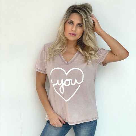 Love You T-Shirt - Rose