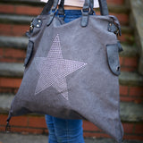 Large Stud Star Bag - Vintage Grey